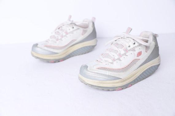 Vintage WHITE platform RUNNERS tennis