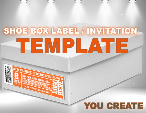 Shoe Box Label Template Create Your Own Invitations Or Favor Box Labels