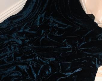"10 MTR GREEN//BLACK FLORAL BURNOUT DRESS FABRIC...45/"" WIDE £39.99"