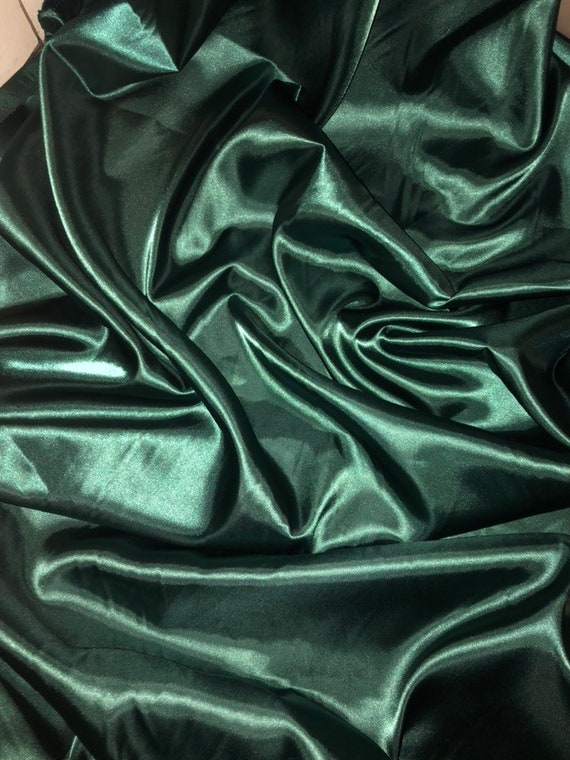 "1 MTR TURQUOISE SATIN LINING FABRIC...58/"" WIDE"