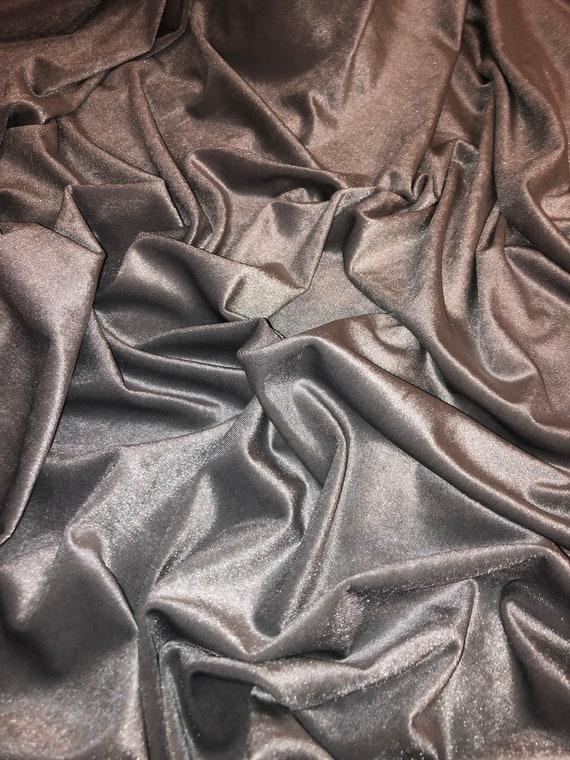 """dress,upholstery 1 mtr luxury dark purple velour velvet fabric..58"""" wide 147cm"""