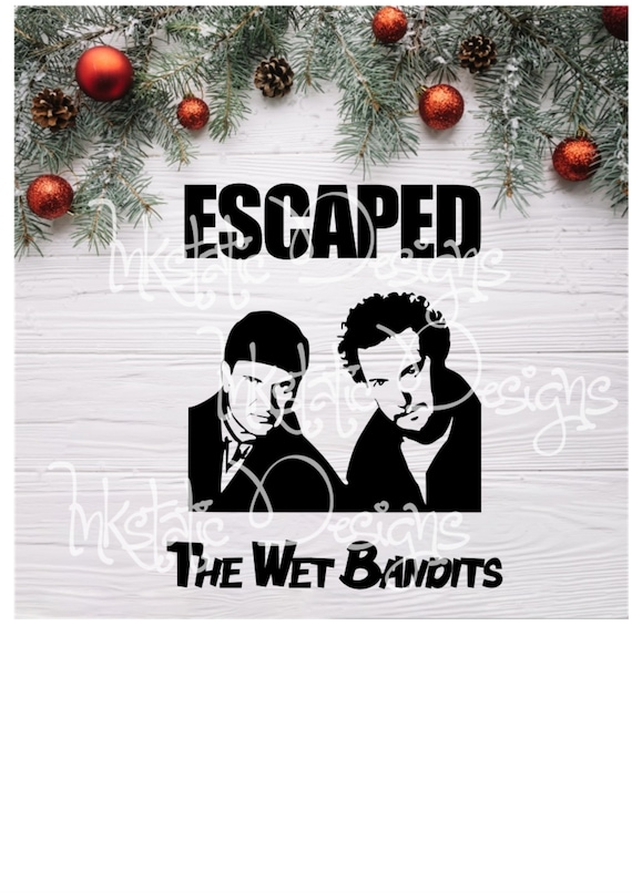The Wet Bandits Dye Sublimation Transfer  Christmas Transfer  Harry And Marv  90s Christmas Movie Sublimation Transfer