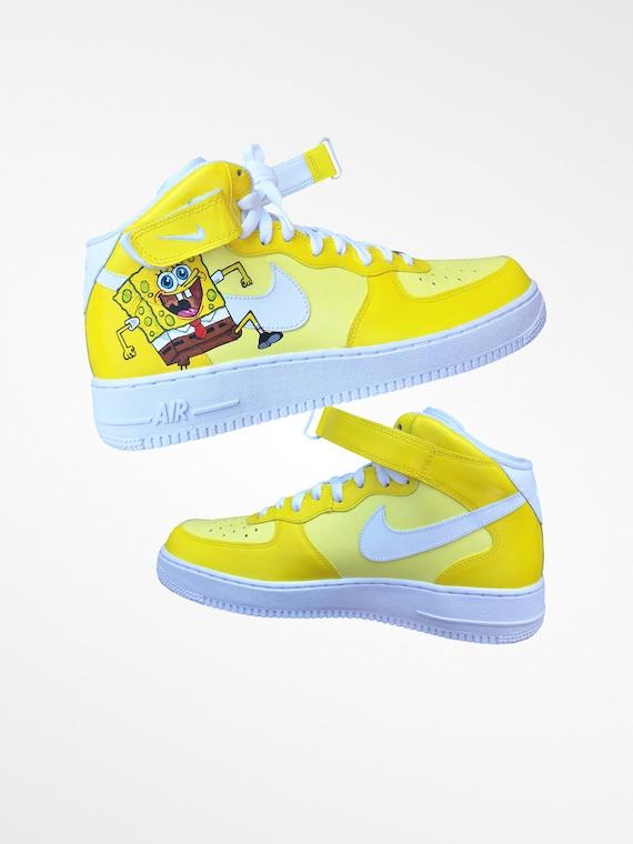 nike air force 1 spongebob