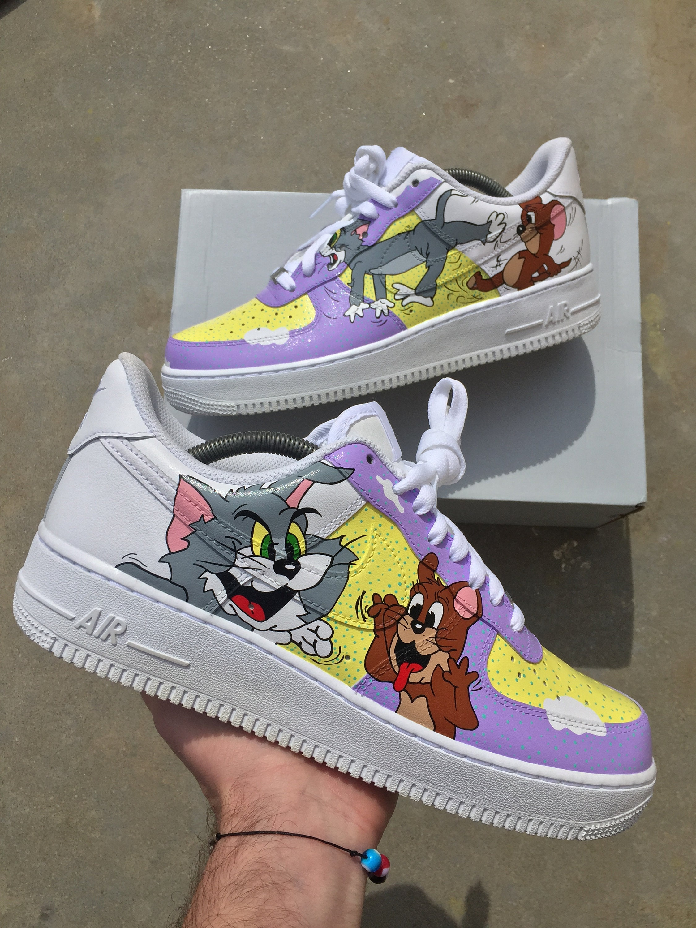 4eae8dc392f57 Custom Nike Air Force 1 - Tom & Jerry - Custom Shoes - Hand painted - Nike  Air Force One - Custom Sneakers - Nike - AF1 - Custom Kicks