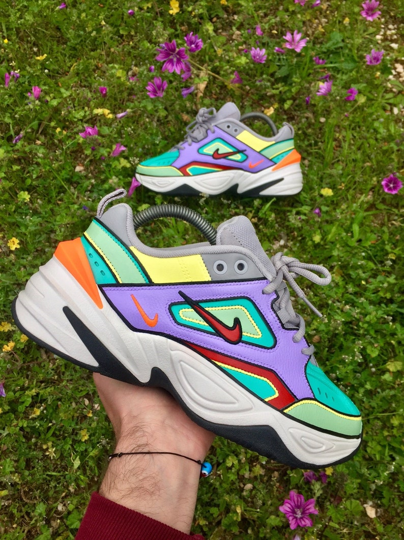 5e550a0a4830 Custom Nike M2K Tekno Nike Colours Custom Sneakers Hand