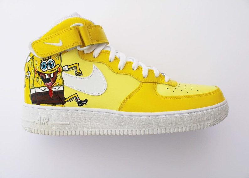 3773e5abb4ac3 Custom Nike Air Force 1 - Spongebob - Custom Shoes - Hand painted - Nike  Air Force One - Nike Custom Sneakers - Nike - AF1 - Custom Kicks