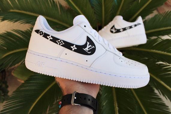 Custom Nike Air Force 1 Swooshes Custom Shoes Hand | Etsy