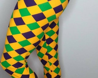 962d37fb1 Mardi Gras Harlequin leggings