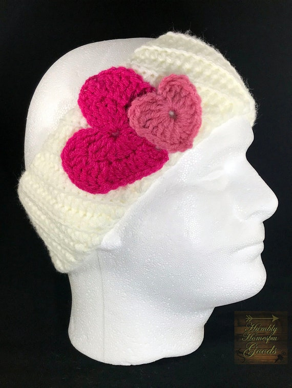 Handmade Crochet Softball Headband youth size 3 pack