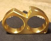 EDC Brass Double Ring Key Chain Bottle Opener