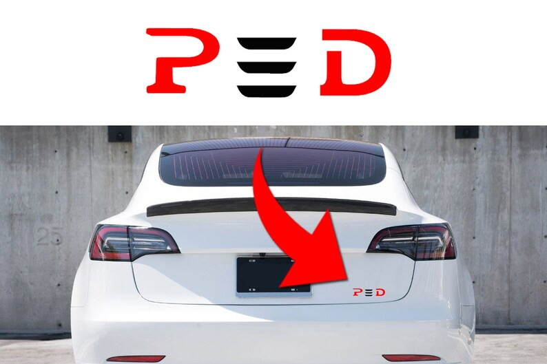 New! 1pc P3D decals stickers for Tesla Model 3 trunk rear emblem badge or  door (multicolor)