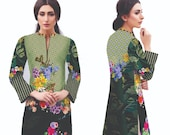 Women Indian Kurti Pakistani Kurta Cotton Digital Print Tunic Tops Shirt Ethnic Dress
