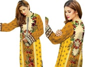 Sufia Fashions® Indian Kurti Pakistani Kurta Cotton Digital Print Tunic Tops Shirt Ethnic Dress