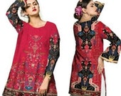 Women Indian Kurti Pakistani Kurta Cotton Digital Print Tunic Tops Shirt Ethnic Dress From Sufia Fashions