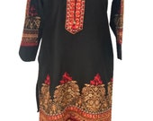 Women Indian Pakistani Kurti Kurta Dress Light Soft Khaddar Embroidered Designer Tunic Tops