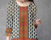 Ladies Indian Kurti Pakistani Kurta American Crepe Short Digital  Print Tunic Tops