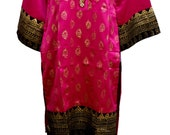 Women Indina Pakistani  Kurti Kurta Pink Sequence Work Embroidery Silk Designer Stitched  Tunic Tops by Sufia Fashions