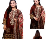 Pakistani Shalwar Kameez Stitched Readymade New Party Wear Lilan Embroidered Suit Indian Ethnic Salwar Dress 3Pcs