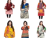 Plus Size Kurti Women Indian Pakistani Kurta Cotton Designer Digital Print Tunic Dress Kameez- UK Stock Sufia Fashions