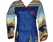 Ladies Kurti Kurta Cotton Digital Print Indian Tunic Tops Shirt Ethnic Pakistani Dress From Sufia Fashions