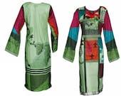 Ladies Indian Pakistani Kurti Kurta Cotton Digital Print Tunic Tops Shirt Ethnic Dress From Sufia Fashions