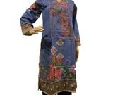 Ladies Indian Pakistani Kurta Kurti Cotton Embroidered Digital Print Tunic Top