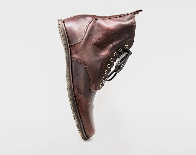 BESPOKE DESERT BLASTER boots / Tailor made barefoot boots / Design your own pair of boots / flexible, breathable, stylish / veg tan leather