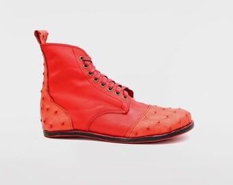 RED DESERT BLASTER boots / Etsy Design Awards Finalists, Extraordinary Shoes Etsy Design Awards, Extraordinary Creatives around the world
