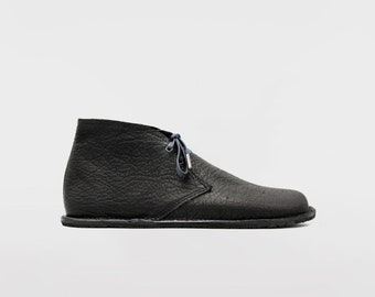 Barefoot Pals   Minimalist footwear   Desert Boots   Barefoot shoes   Black Leather   Handmade in England   Limited Edition