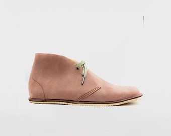 Barefoot Pals   Minimalist footwear   Desert Boots   Barefoot shoes   Nobuk leather   Handmade in England   Limited Edition