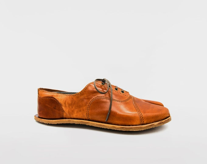 Oxford Tabi | Chestnut Brown Leather | Handmade in England