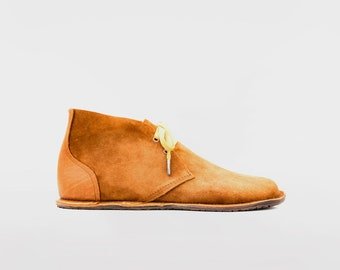 Barefoot Pals   Minimalist footwear   Desert Boots   Barefoot shoes   Suede + leather   Handmade in England   Limited Edition