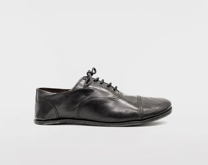 Barefoot Oxford Shoes / Black Leather