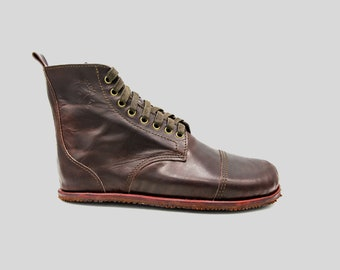Desert Blasters Boots   Chocolate leather boots   barefoot shoes   Vibram soles   flexible, breathable, stylish   Made in England