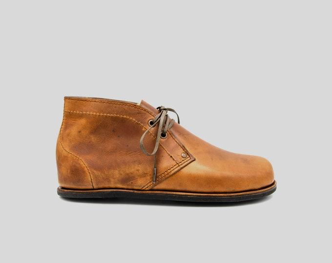 Shell Cordovan Desert Boots | Dainite soles | Minimalist footwear | Barefoot shoes | Handmade in England | Luxury Edition
