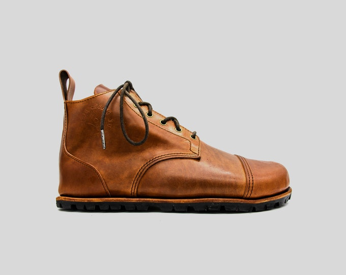 Barefoot Trekking Boots | Shell Cordovan Leather | Made to measure | Minimalist footwear | Barefoot shoes |  Hiking boots | 3D Printed Shoes