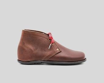 Russian Calf Leather Desert Boots | Dainite soles | Minimalist footwear | Barefoot shoes | Handmade in England | Luxury Edition