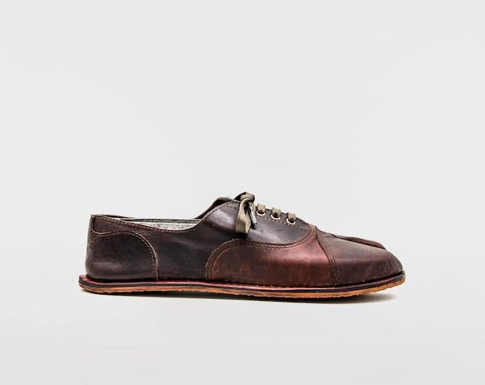 Oxford Tabi | Chocolate Brown Leather | Handmade in England