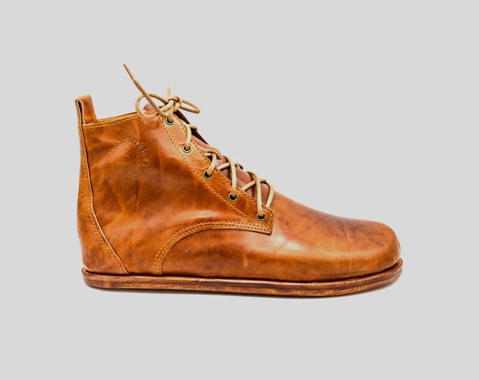 Barefoot Chukka Boots   Chestnut Brown   Barefoot shoes   Minimalist footwear