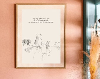 Winnie Pooh Poster Etsy