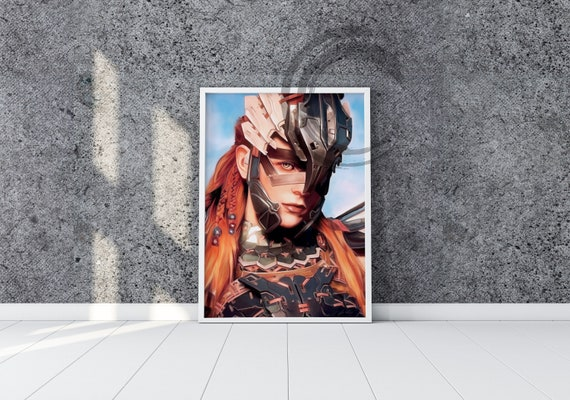 Prints Drawing Aloy From Horizon Zero Dawn Fan Art Poster Hzd Drawing Painting Digital And Printed Nora Tribe Machine Hunter