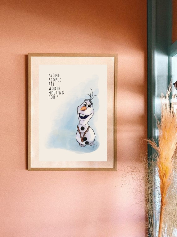 olaf print drawing quote frozen gift idea love