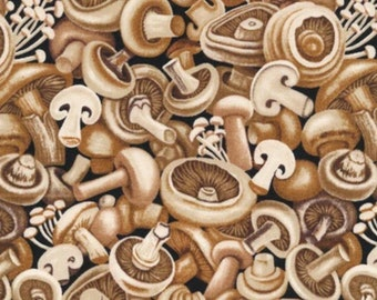 Mushrooms-Farmer John's Garden Party Collection-Paint Brush Studios-Vegetable Fabric- 100% cotton-Quilting Cotton-120-13221-Cut to Size