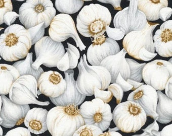 Garlic-Farmer John's Garden Party Collection-Paint Brush Studios-Vegetable Fabric- 100% cotton-Quilting Cotton-120-13241-Cut to Size