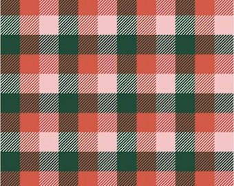 Home For Christmas-Plaid-Paint Brush Studio-Angela Nickeas-Holiday-Winter-100% Cotton-Quilting Cotton-21843-Cut to Size