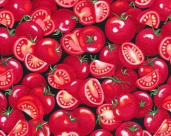 Tomatoes-Farmer John's Garden Party Collection-Paint Brush Studios-Fruit Fabric- 100% cotton-Quilting Cotton-120-13211-Cut to Size