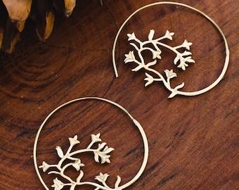 Leaf Earring   Spiral Earrings   Madala Style