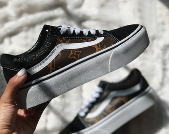 8d13657ffd4 LV VANS CUSTOMS made with authentic lv leather (vans old skool)