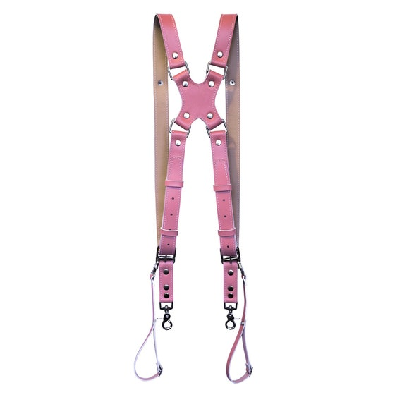 Pink \u0421amera strap Photographer gift  Personalized Double Leather custom camera strap Free personalized