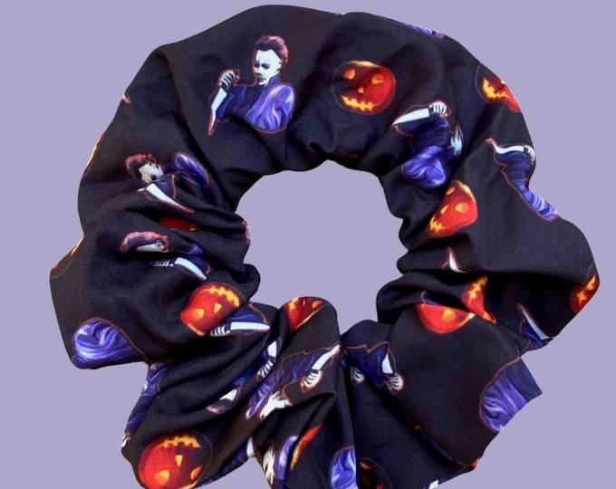 Featured listing image: Michael Myers horror Scrunchie